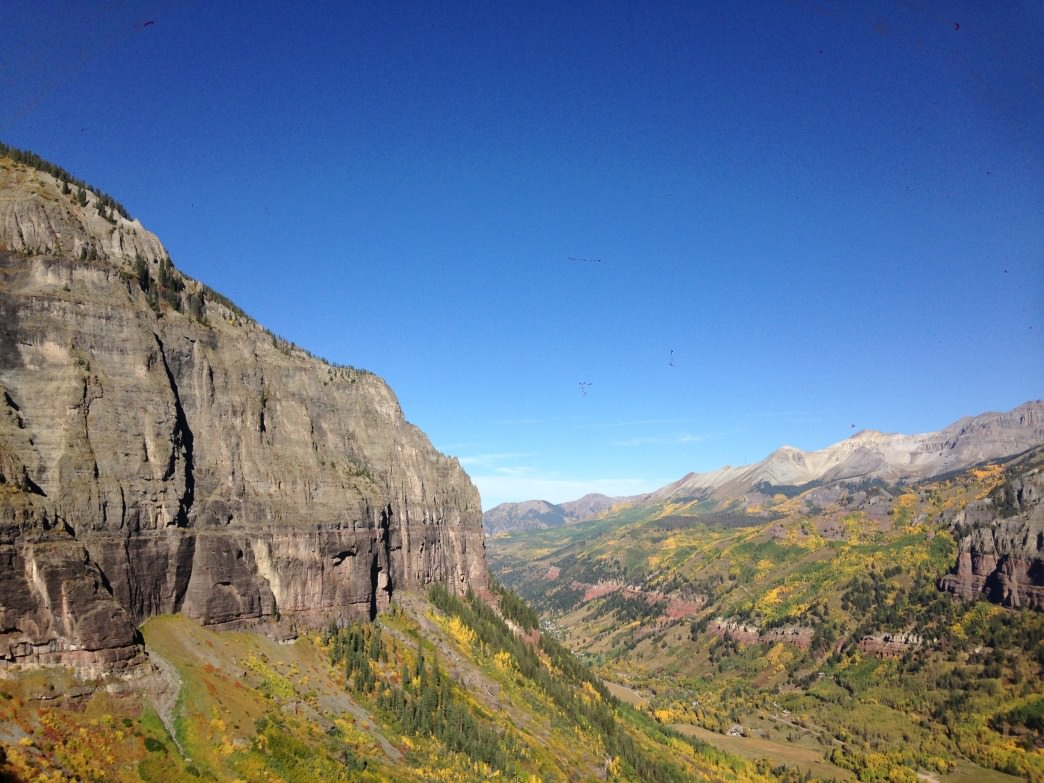 Bridal Veil Basin is a beautiful spot for fall climbing.