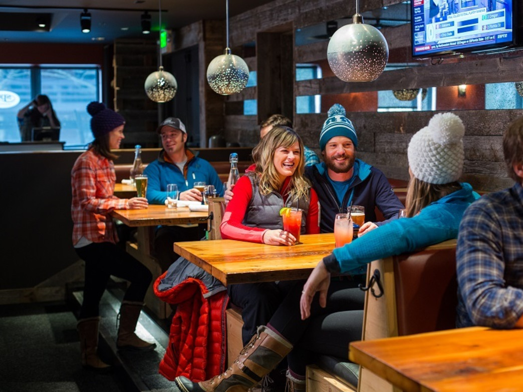 Catch up on the day's adventures at the Spur in Teton Village.