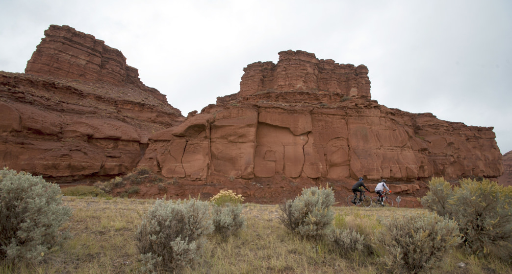 The 66-mile Day 4 brings riders past Crowheart Butte on the way to Dubois     Cycle Greater Yellowstone