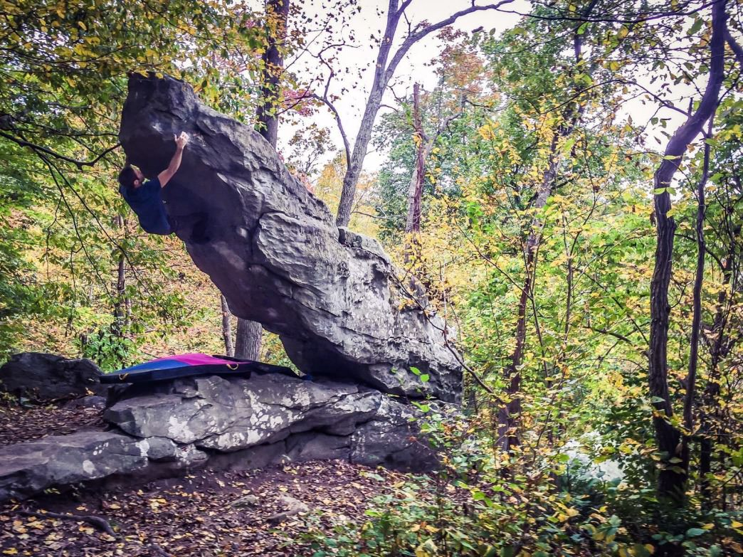"Fernando Jimenez on Moby Dick, ""the best"" bouldering line of the Maryland/Pennsylvania area"