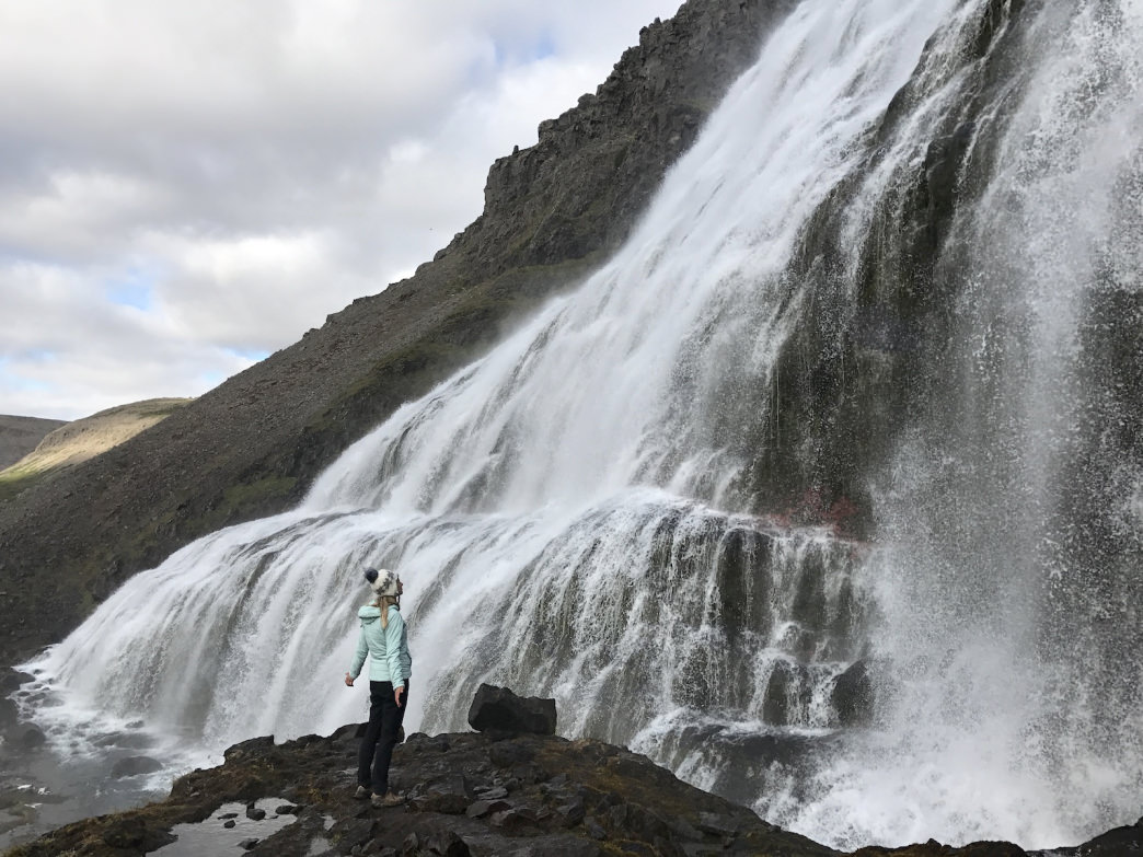 Dynjandi in Westfjords is worth a stop. A 10-minute hike alongside the tumbling tiers offers a more intimate glimpse of nature's force than at some of the heavily visited southern falls.     Terry Stonich