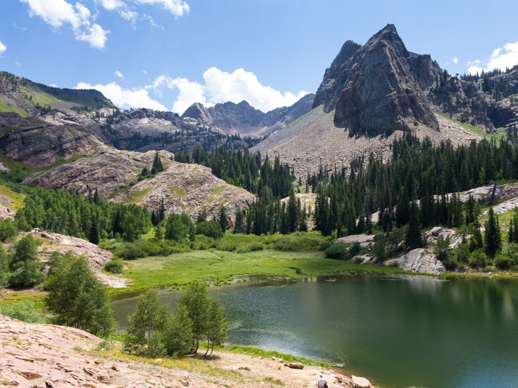The beautiful Lake Blanche in summer