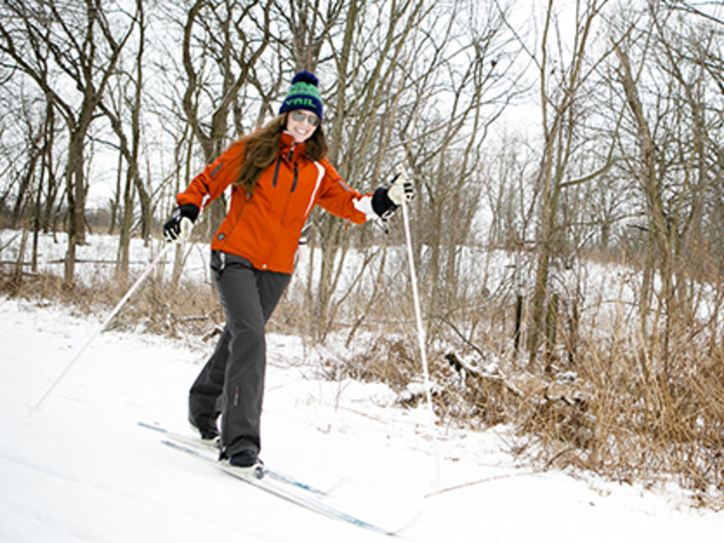 Cross-country skiing at Camp Sagawau.