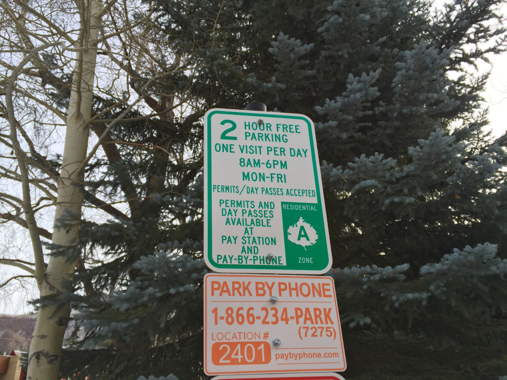 Look for these signs to score two hours of free parking