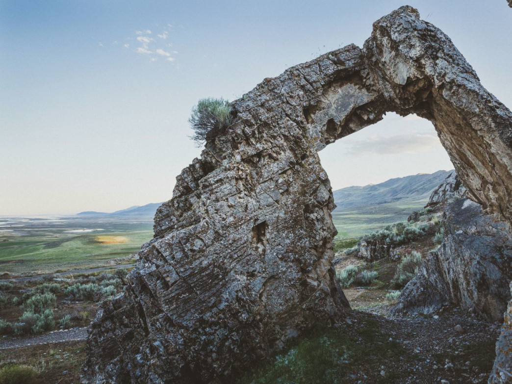 A natural limestone arch near the Golden Spike National Historic Site was named Chinese Arch as a nod to the many workers of the transcontinental rail road of Chinese descent, Promotory, Utah