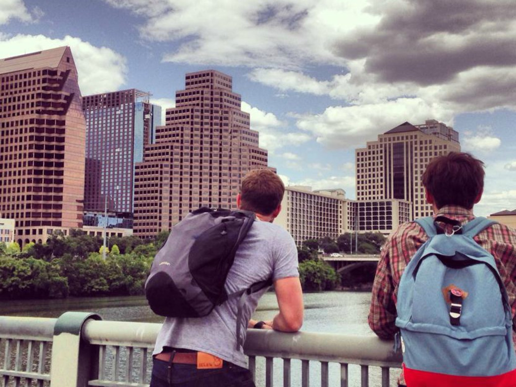 Taking in the view of downtown Austin and Ladybird Lake