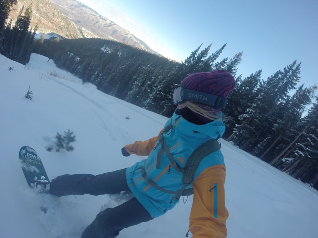 Being outside in the fresh air of the mountains fuels Jordie's passion for snowboarding.