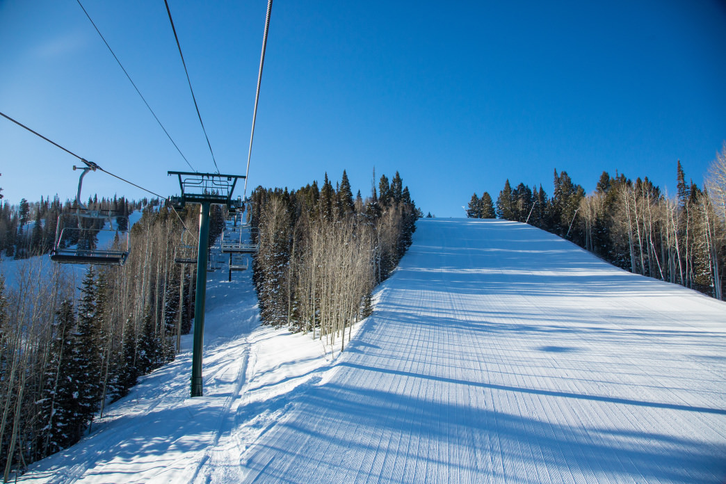 With most Park City visitors watching movies, you can have Deer Valley Resort to yourself.