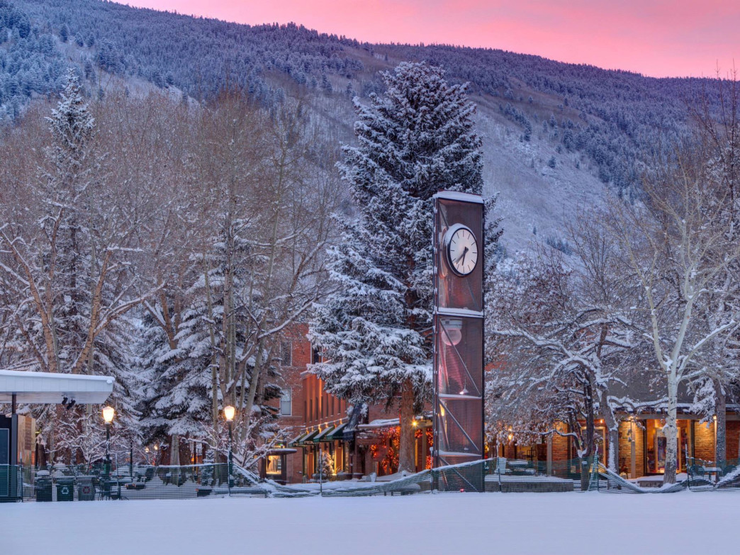 The view of the pedestrian walking mall from Wagner Park.   Photo: Jeremy Swanson/Aspen Snowmass