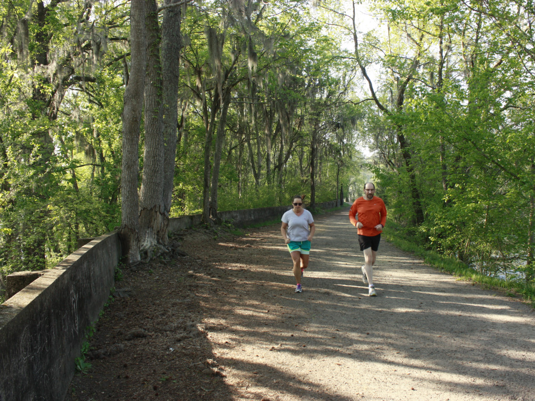 Runners on the Augusta Towpath