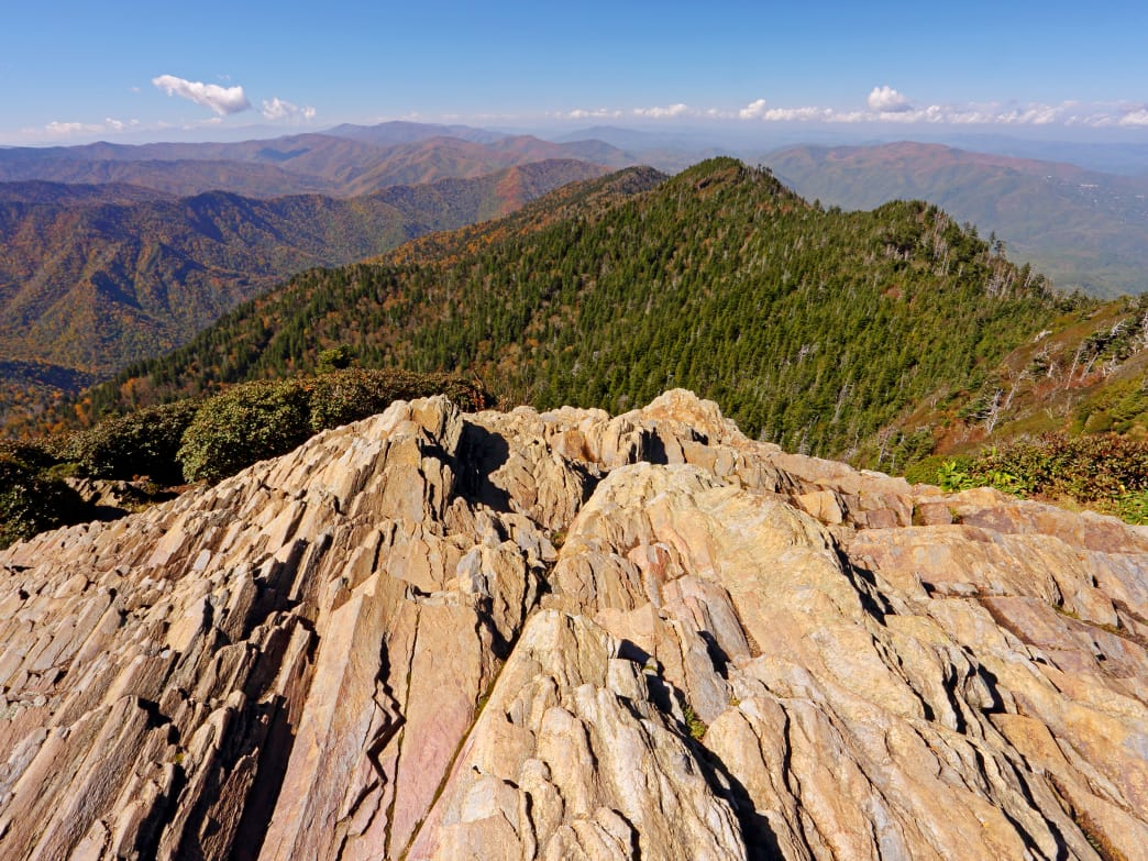 The sprawling panorama from the top of Mt. LeConte.