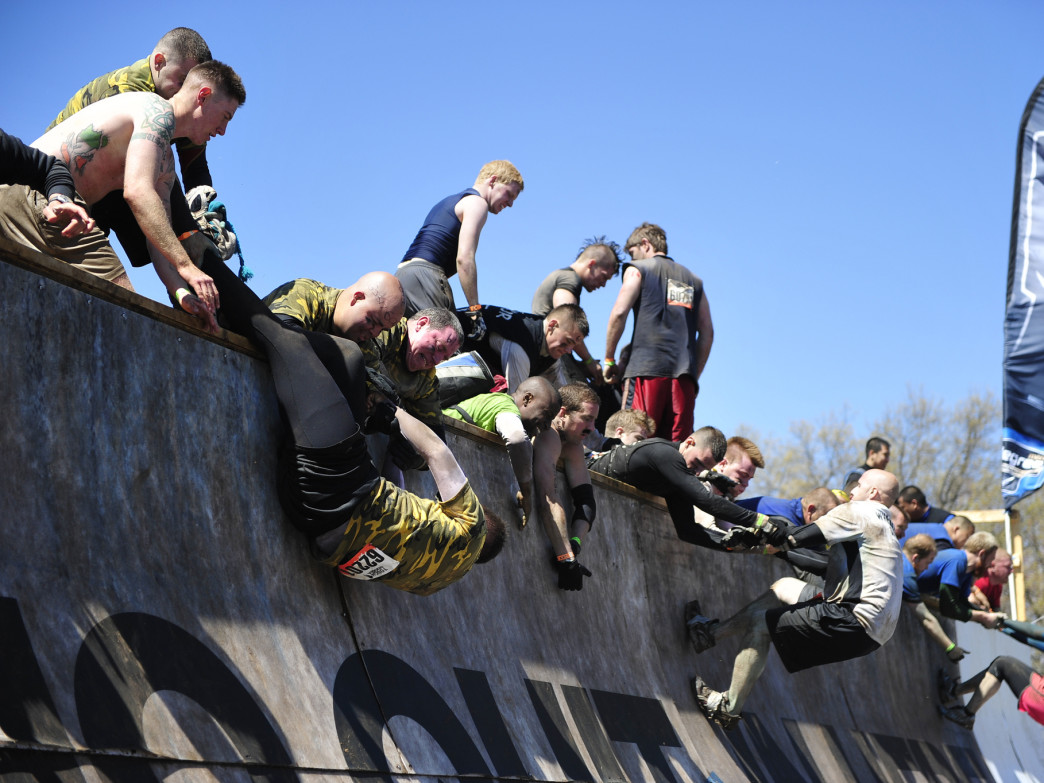 Everest is one of the most notorious obstacles on the Tough Mudder course.
