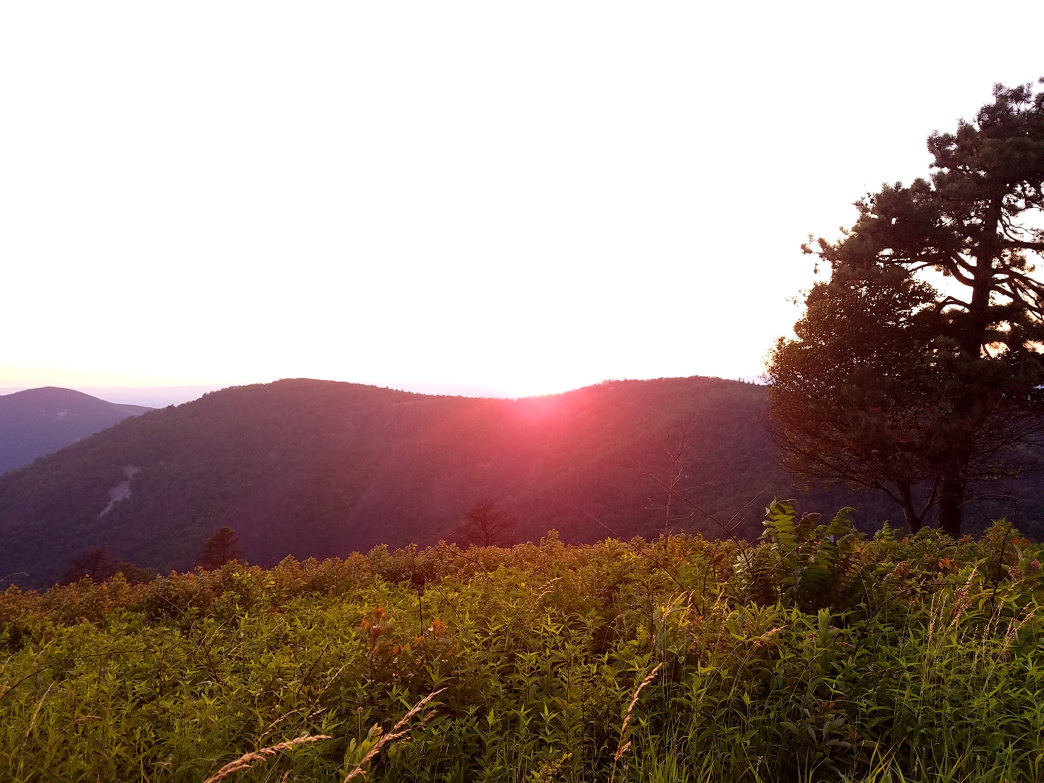 Sunset over Shenandoah National Park.