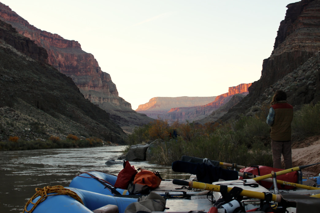 Peaceful mornings along the Colorado River.