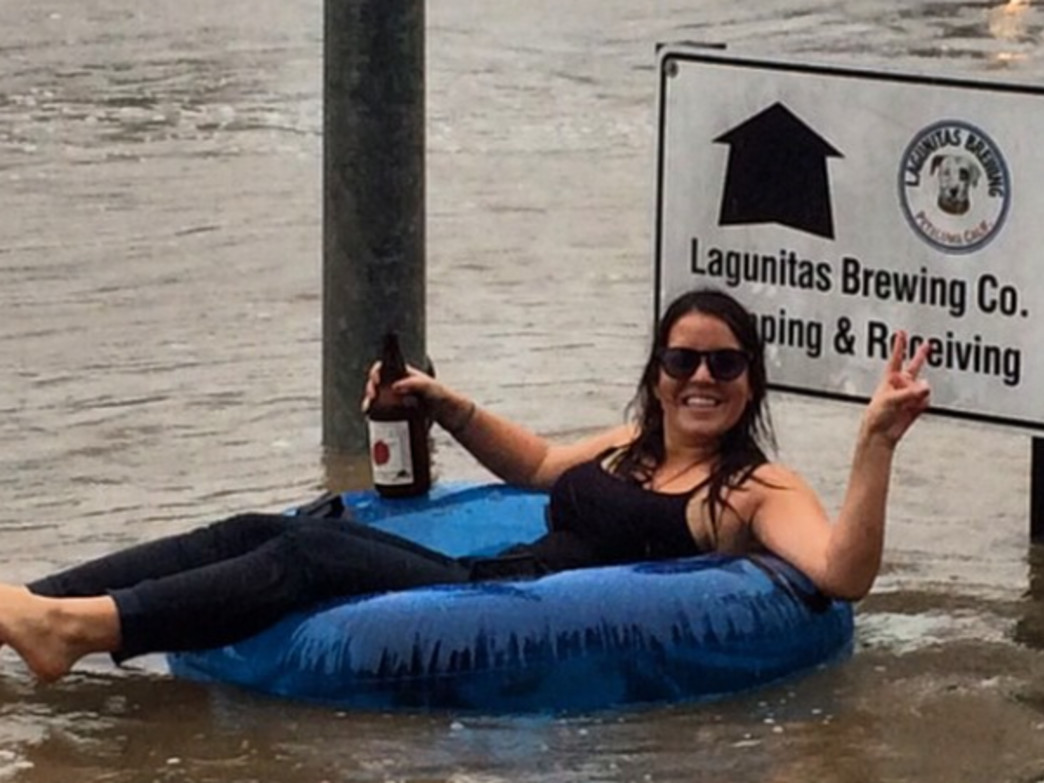 Tubes and brews made the storm at Lagunitas.