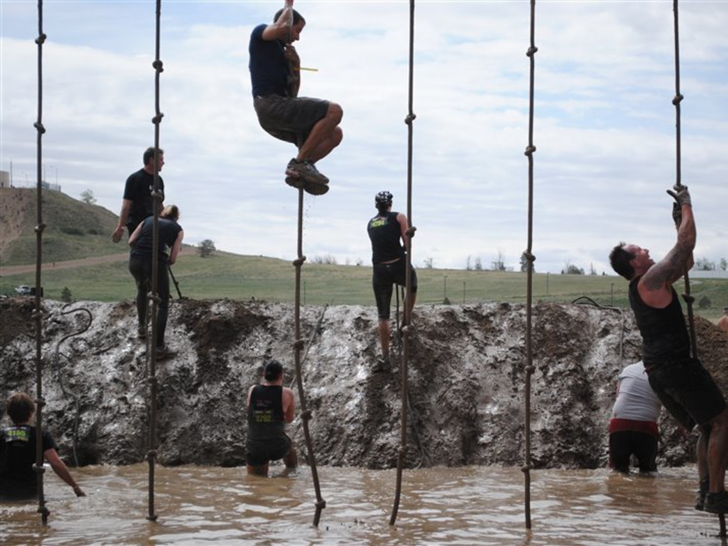 Whether you fall in to a mud pit by choice, there's no avoiding getting dirty at the Spartan Military Sprint.