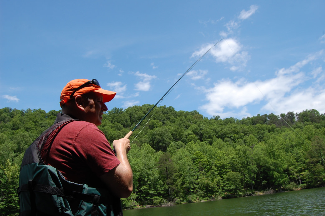 Hungry Mother Lake is one of the area's most popular fishing spots.