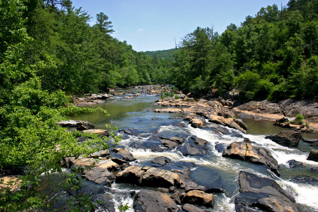 Sweetwater Creek has a variety of trails for runners to enjoy along the water, across meadows, and through forests.     Alexa Lampasona