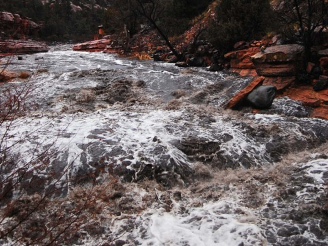Class IV Slide Rock section on Upper Oak Creek