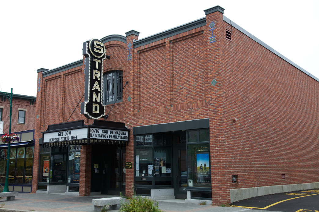 The Strand Theatre in Rockland shows current and international films.
