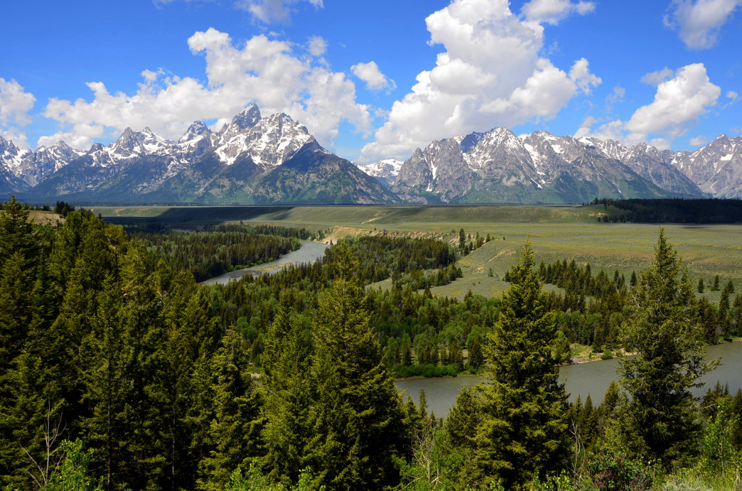 The Snake River, just outside Jackson Hole, is a great spot for flatwater paddling and whitewater rafting.