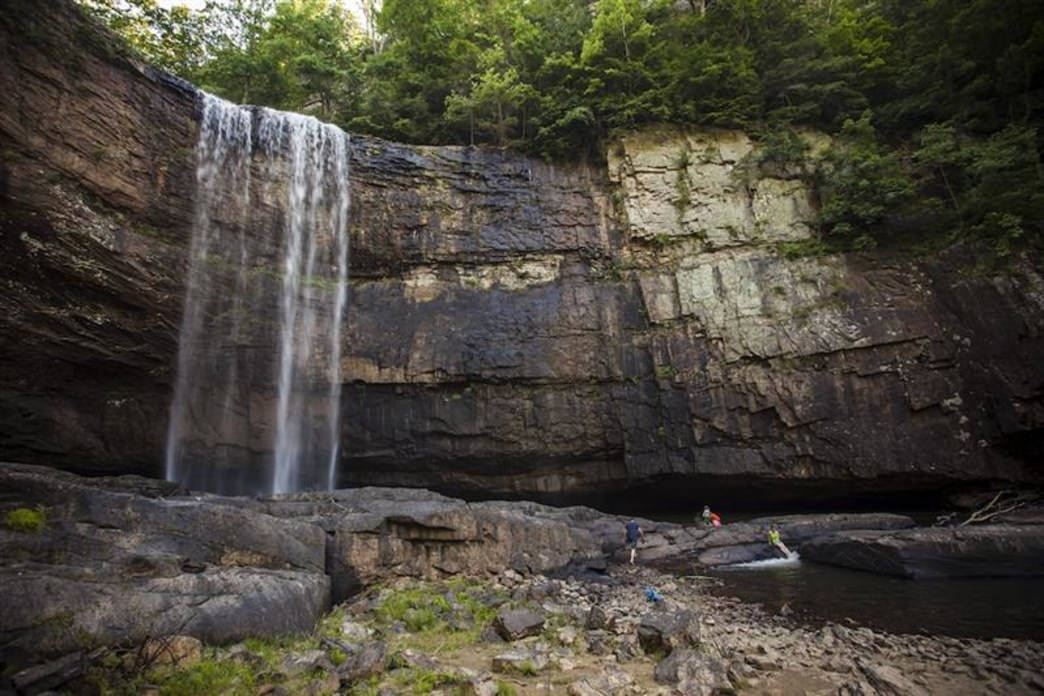 Below Lula Lake itself, Lula Falls comes spilling over the edge of a 100-foot cliff to create one of the most scenic waterfalls in the Chattanooga area.