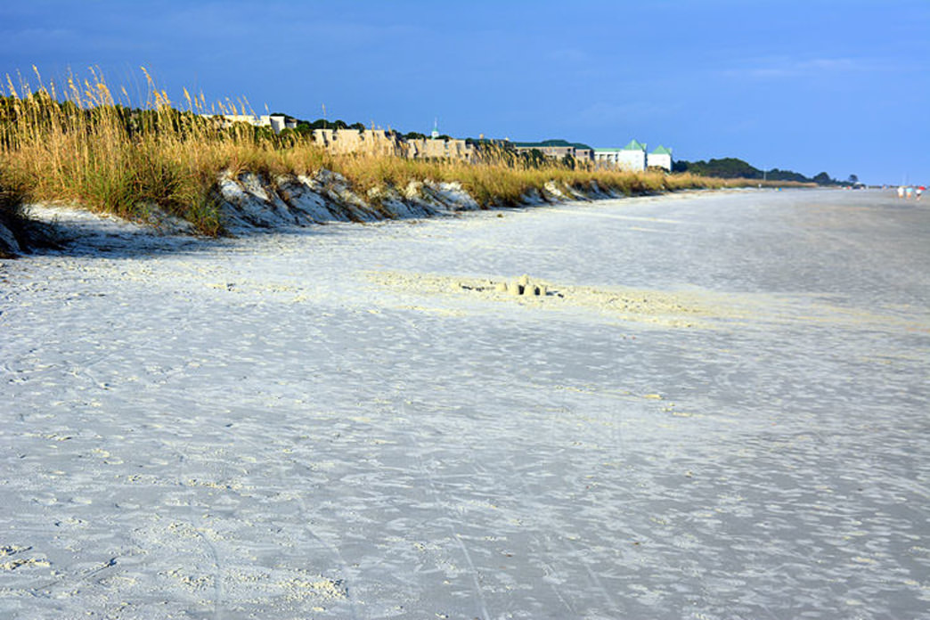 The wide firm beaches of Folly Field are great for biking