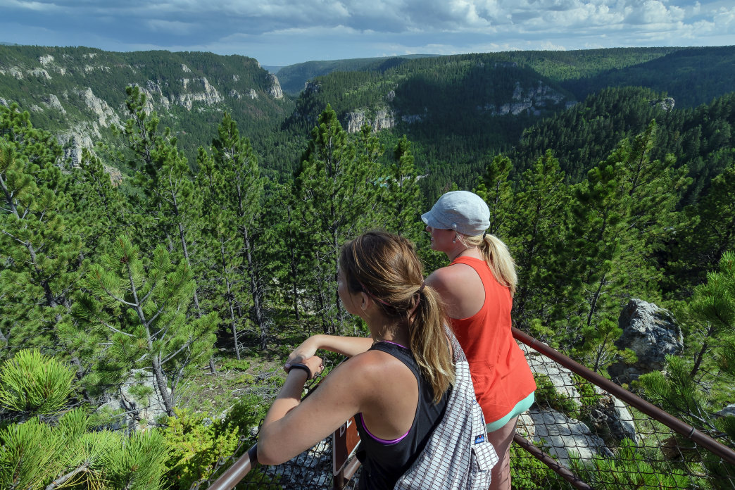 Spearfish Canyon features a wide variety of hiking trails with plenty of scenic views.