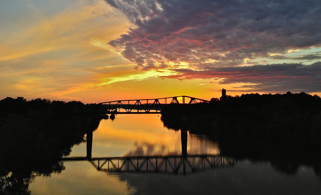 Sunset on the Black Warrior River, one of several rivers crossed on the UGRR route.