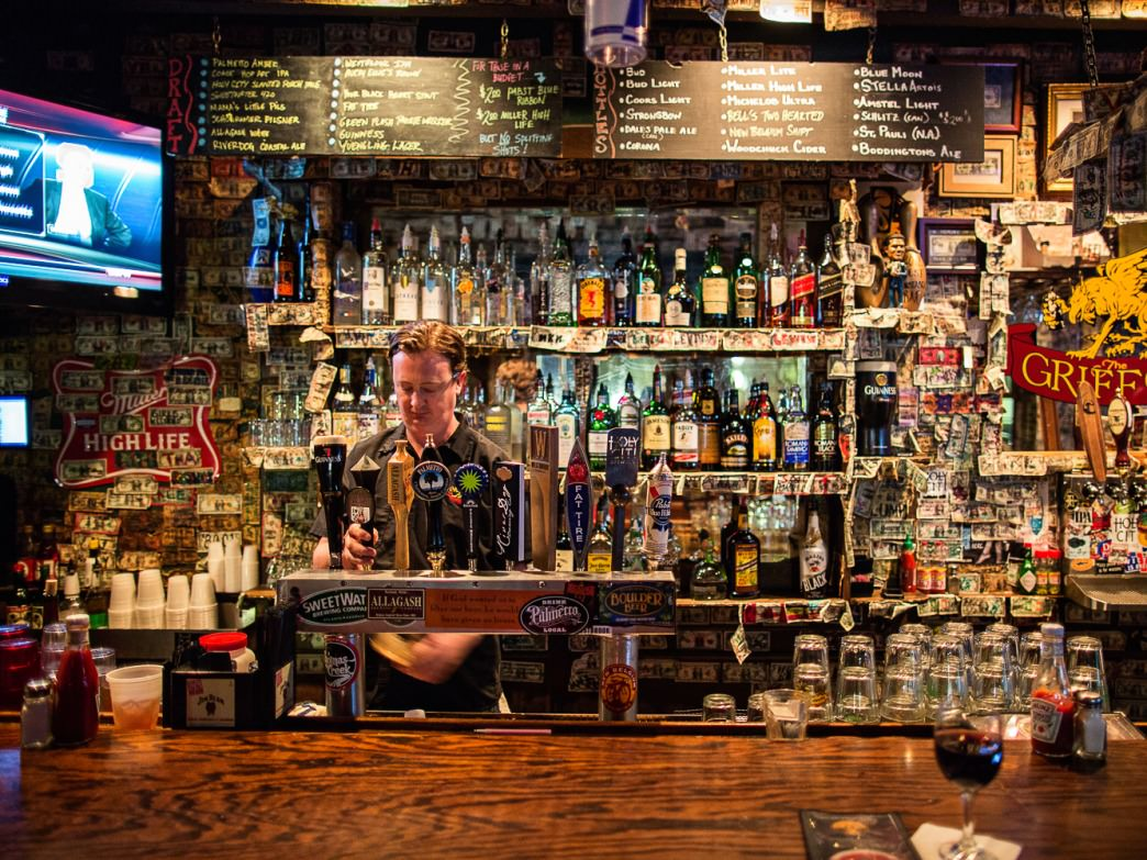 You'll have plenty of choices of what to drink while watching the storm at The Griffon.