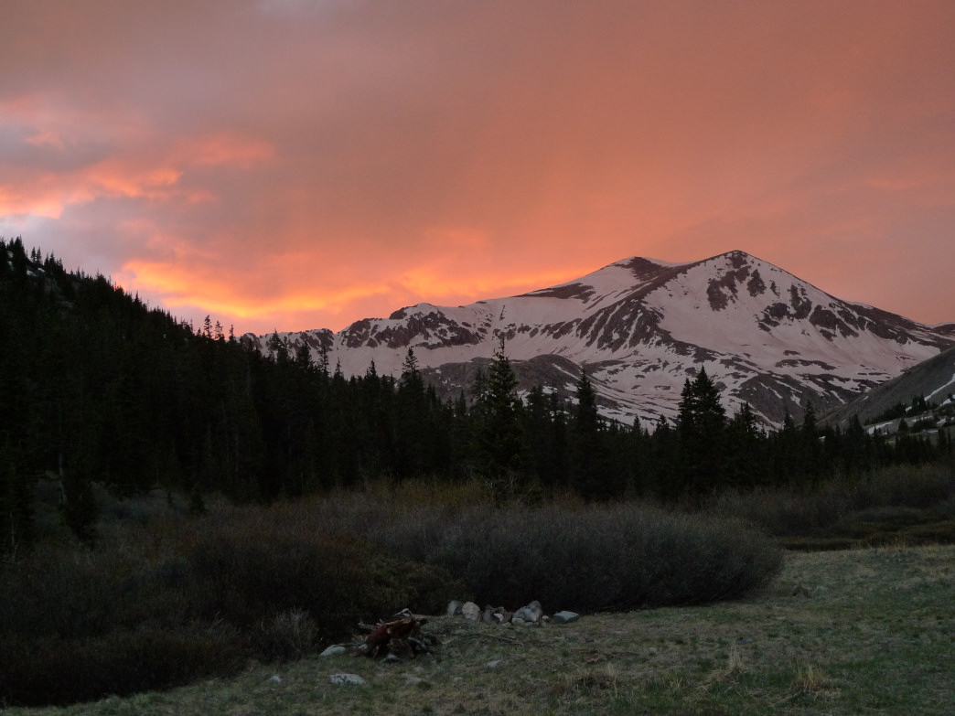 Sunset behind Mount Democrat.