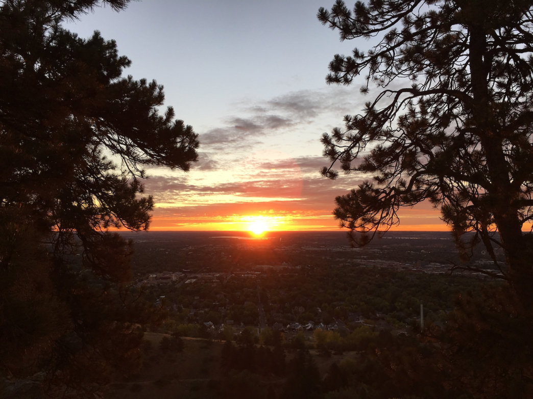 Sunrise from Mount Sanitas erases the pain of an early wake-up call.