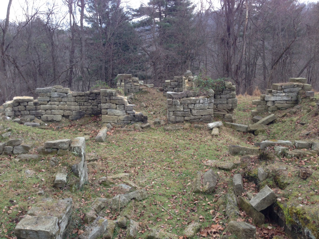 The ruins of the 25 room Thornhill Mansion await you at the end of the trail