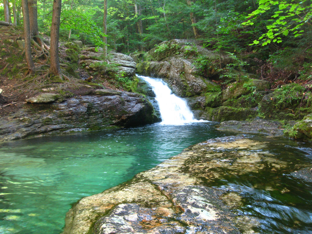 The alluring emerald waters of Maine's Rattlesnake Pool.