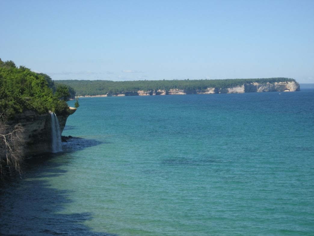 View of Grand Portal in Pictured Rocks National Lakeshore, Michigan.