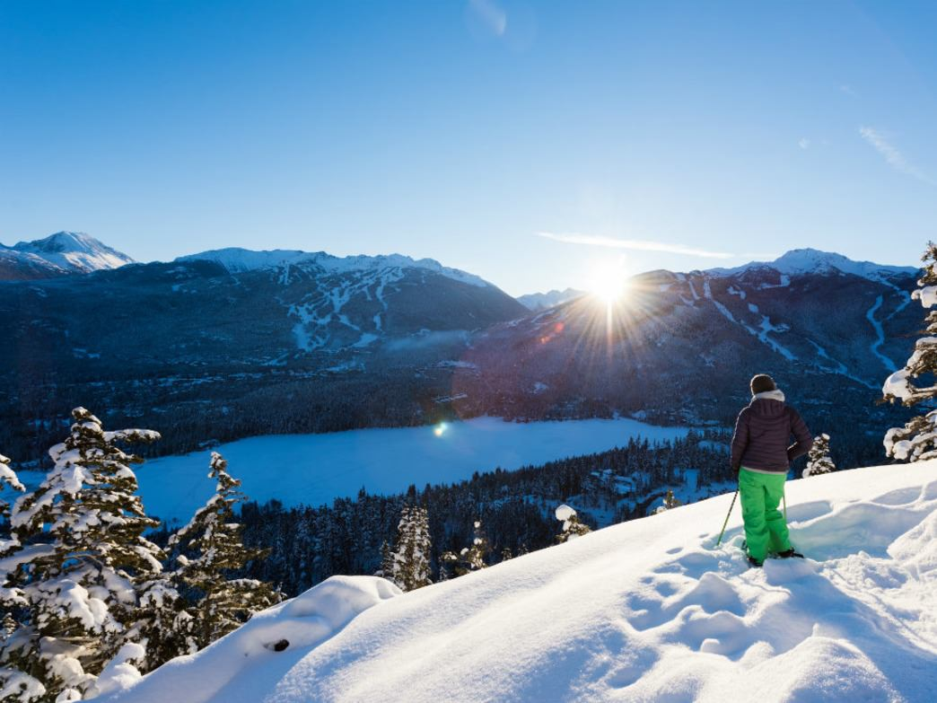 Snowshoeing is exhilarating in Whistler.