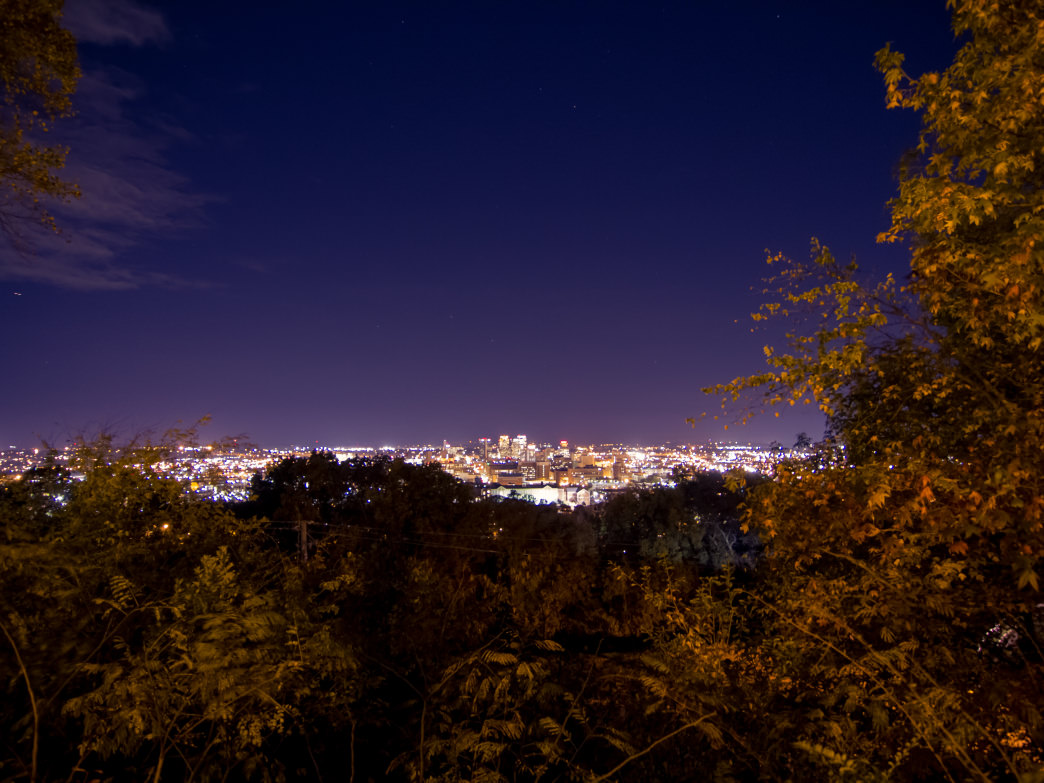 Watch the city lights from Vulcan Park.