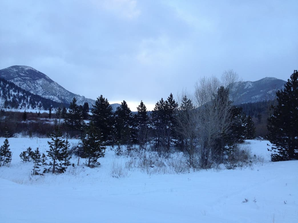 Rocky Mountain National Park in winter is full of serene landscapes.