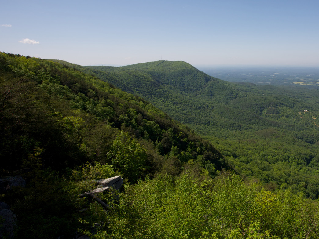 View down the length of Fort Mountain.