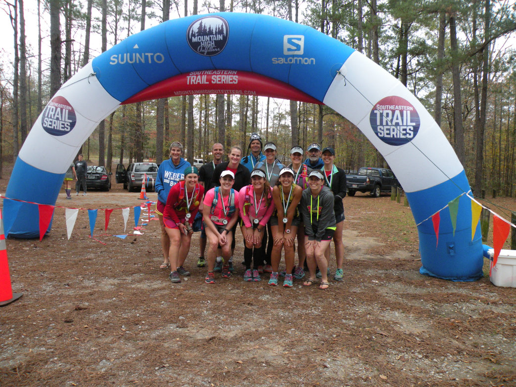 Races in the Southeastern Trail Series draw hundreds of participants.     David Tosch