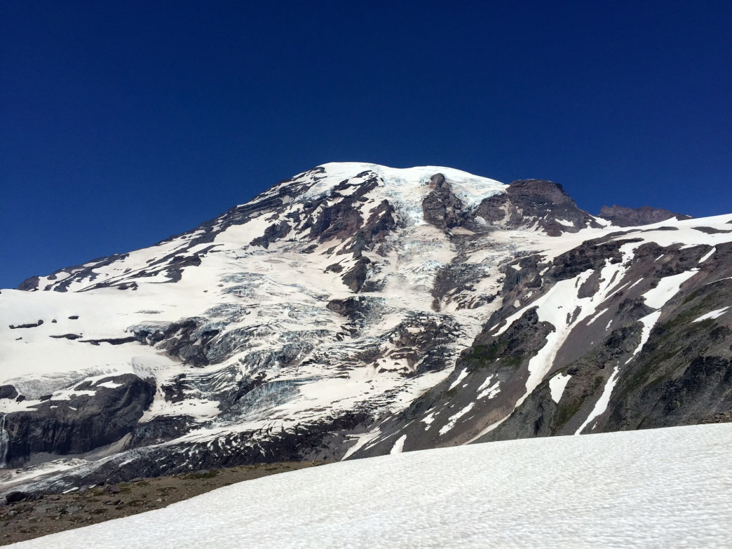 The 14,409-foot behemoth as seen on the way to Camp Muir.