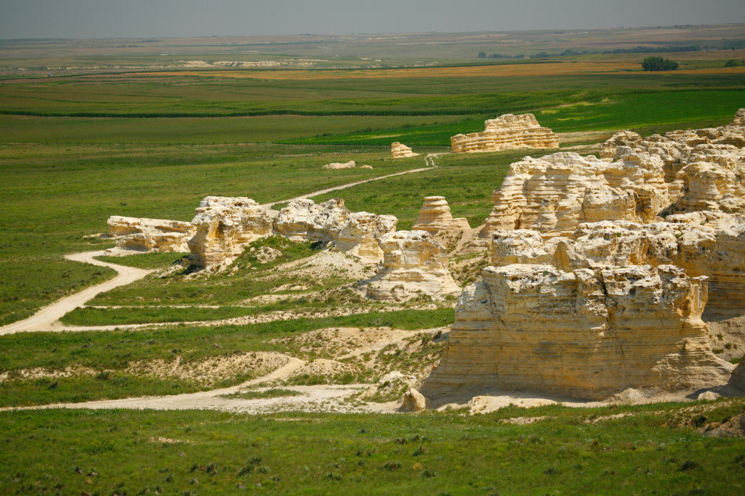Kansas is full of interesting formations like Castle Rock.