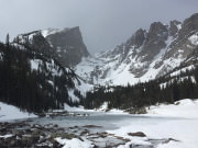 Dream Lake, Rocky Mountain National Park, in the winter
