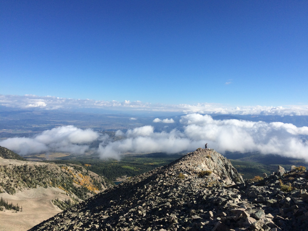 A journey up Sopris is like a rocky walk in the clouds.