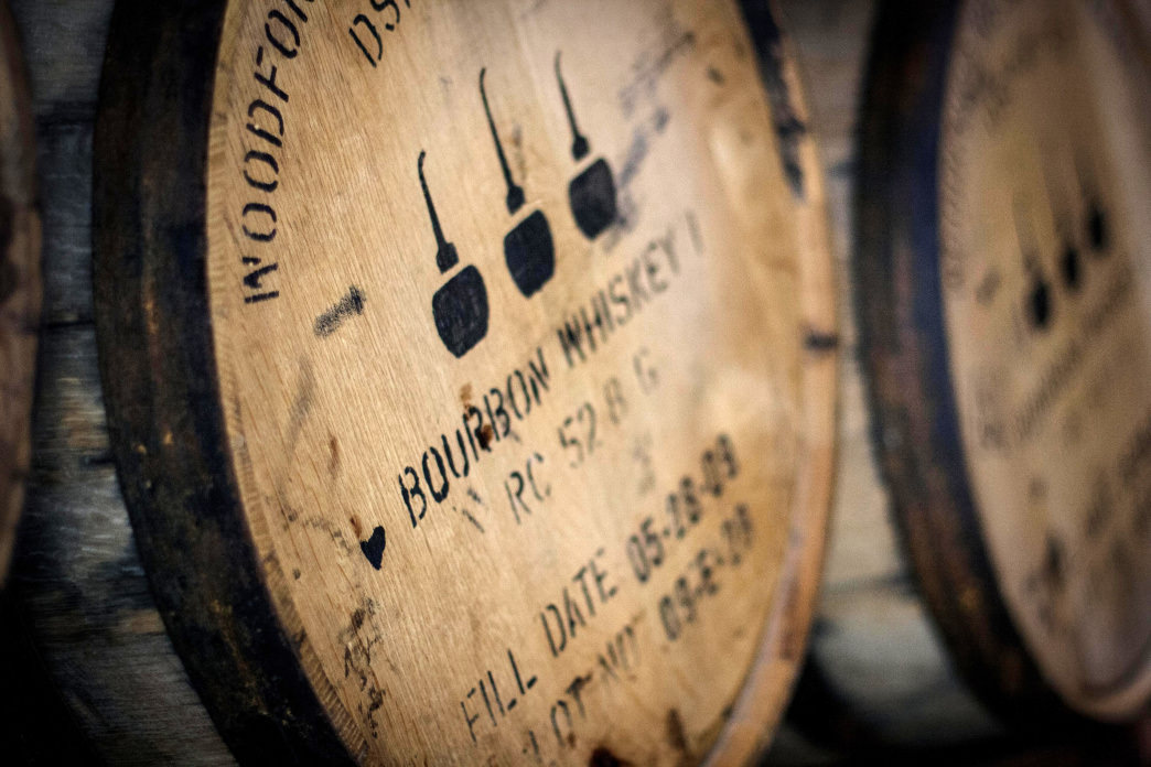 "Whiskey was shipped in burned out oak barrels that were stamped ""from Bourbon County."""