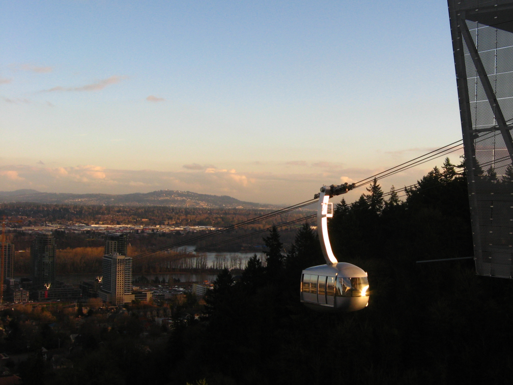 The Portland Aerial Tram is a stunning section of the famed 4T Trail.