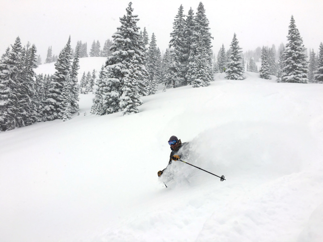 Untracked pow is sure to put a shit-eating grin on your face.