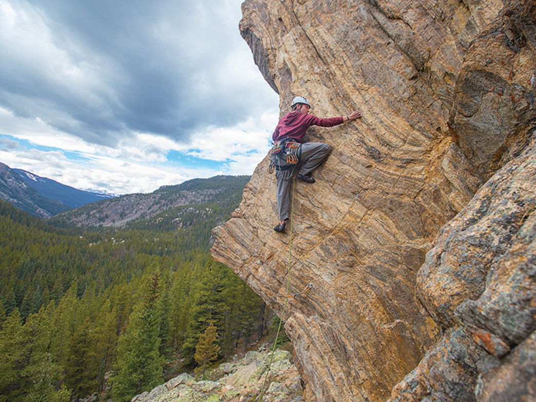 The Cleaver, above Bulldog Boulders, offers a technical climb up an exposed face with some of the most stunning views on the pass.