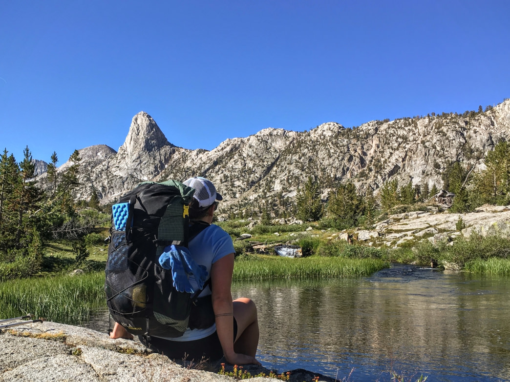 Thru hikes offer a chance for solitude and quiet time in nature, like this break on the John Muir Trail below Rae Lakes.