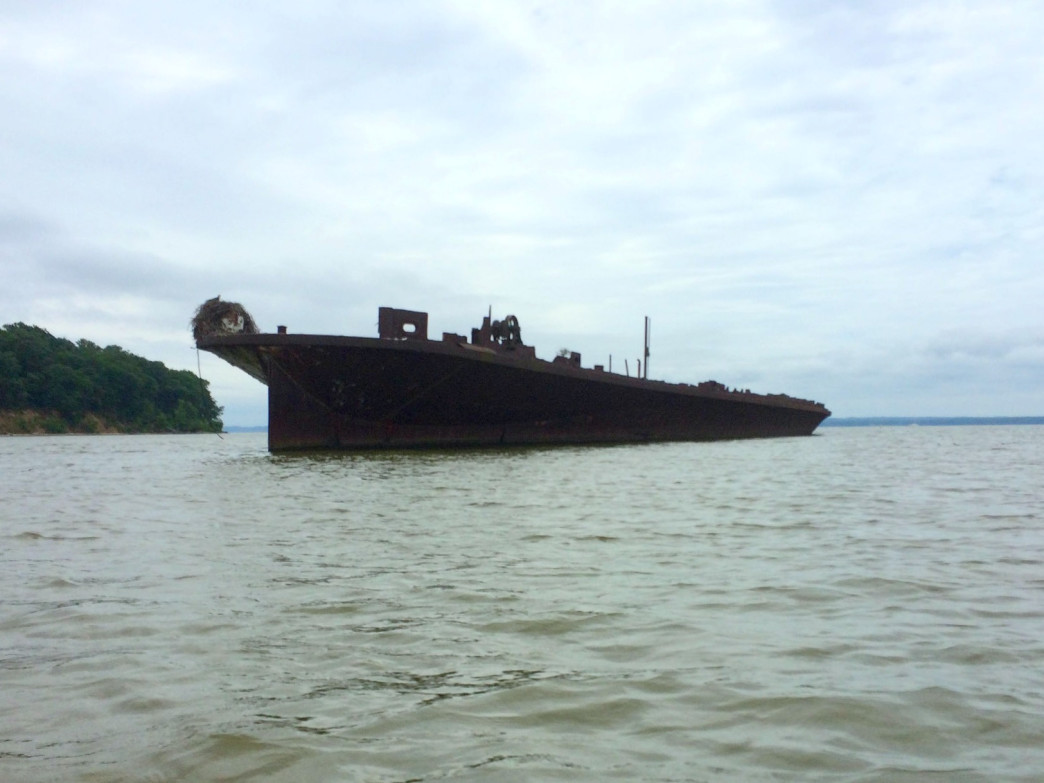 The ethereal remains of the 291-foot USS Accomac.